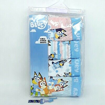 Bluey dog Kids Underwear Undies Size 4 - 6 Girls