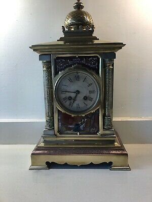 Brass Antique French Mantle Clock
