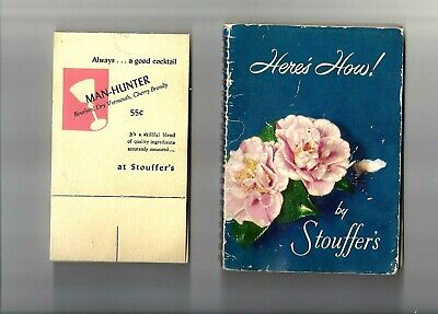 STOUFFER'S RESTAURANTS Collectible 1950 Here's How! 1st Ed. Cocktail Recipe Book