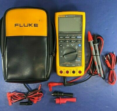 Fluke 789 Processmeter, Excellent, Screen Protector, Soft Case, Accessories