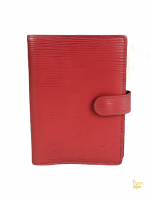 $415 LOUIS VUITTON Red Epi Leather Small Agenda Cover Address Book SALE!