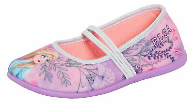 Girls Disney Frozen 2 Slippers Ballet Pumps Slip On Kids Elsa Anna House Shoes