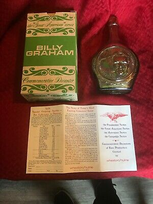 Vintage Glass Wheaton Decanter Bottle in Box ~ BILLY GRAHAM