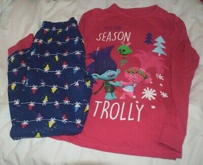 Fab Girls Disney Troll Pyjamas Aged 9-10 Yrs In Excellent Condition, Bnwot