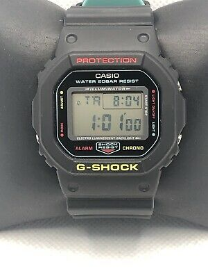 Casio DW-5600CMB Unisex Black Resin Digital Black Dial Quartz Wrist Watch OL197