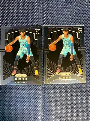 Lot of (2) 2019-20 Panini Prizm #249 Ja Morant Memphis Grizzlies RC Rookie