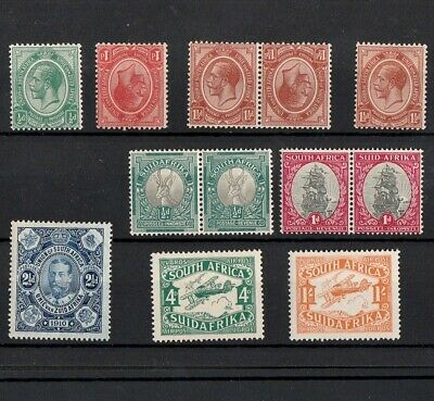 South Africa Selection Of Mint King George V Stamps Including Tête-Bêche Pair