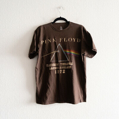 Pink Floyd Brown Rainbow Theater London England T Shirt Brown Size L Remake