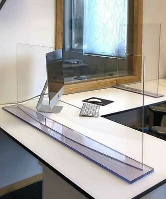 Protective Sneeze Guard Clear Acrylic- glass Shield for Counters Transactions