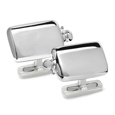 New James Purdey Sterling Silver Flask Cufflinks