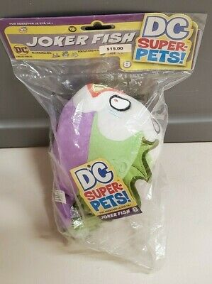 Dc Comics Super Pets Joker Fish Plush New