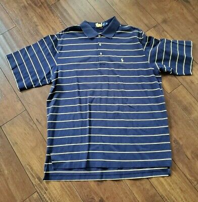 Mens Polo by Ralph Lauren Polo/Golf Shirt Extra Large (XL) Striped - Cotton