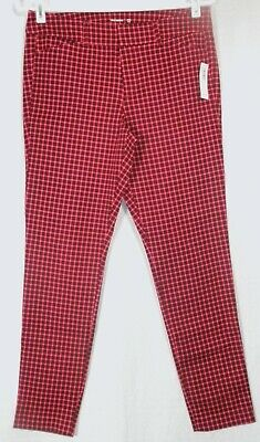 Old Navy Pink Checkered Pixie Ankle Crop Pants Stretch NWT New 4 6