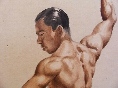 Modern British Early 20th Century Possibly Slade School Naked Man Study Gay Int.