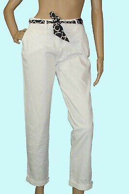 Charter Club Bright White Womens Pants Tummy Slimming Summer Size  12  New