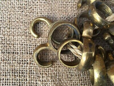 Vintage French Brass Curtain Rings