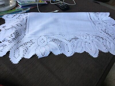 60cm square table machine crocheted doily Near new Surplus to need