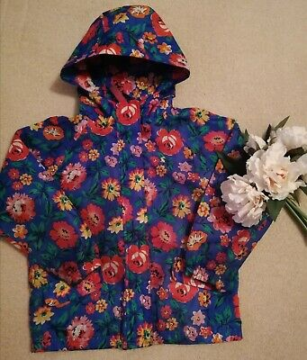 Girls  Coat Spring Shower Proof Mac  Jacket With Hood Age 4