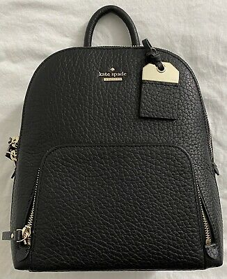 New Women's Kate Spade New York Caden WKRU5838 Carter Pebble Leather Backpack: