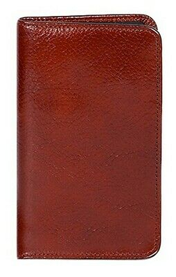 Scully Western Planner Italian Leather Pocket Mahogany 1008-06