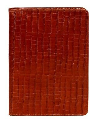 Scully Western Planner Lizard Print Leather Journal Brown 1050R-0