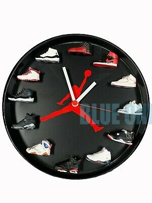 "New Handcrafted 12"" 3D Black Jordan Sneakers clock OFF white nike supreme fieg"