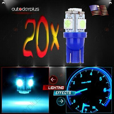 20 x T10 W5W 2825 194 168 501 Ice Blue 5050SMD LED Side Wedge Light Bulb 12V New