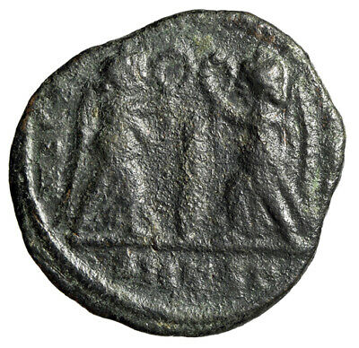 """CERTIFIED AUTHENTIC Roman Coin """"Two Victories, Palm Frond"""" Constans I GENUINE"""