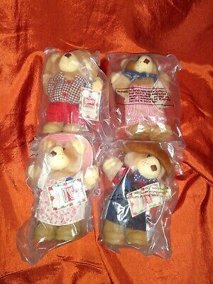 Lot of 4 1986 Wendy's Furskins Bears In Package.    A
