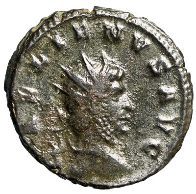 """COMPLETE Roman Coin of Gallienus """"Aequitas With Scales"""" CERTIFIED AUTHENTIC"""