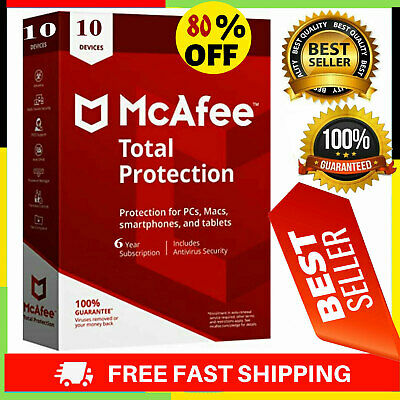 McAfee Total Protection 2020 Antivirus 🔥 3 Device 10 Years 🔥