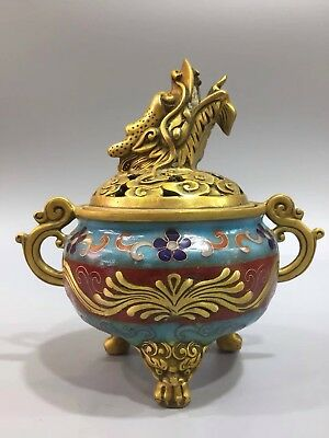 Chinese Antique Cloisonne hand-made faucet incense burner