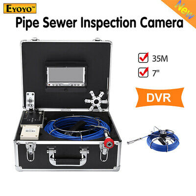 Eyoyo 7 Inch 35m DVR Pipe Drain Sewer Inspection Camera Industrial IR Remote LED