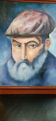 Original vintage rare art oil on wood! hand signed- Pablo Picasso -No print!