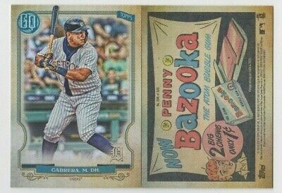 Miguel Cabrera 2020 GYPSY QUEEN BAZOOKA BACK PARALLEL #266 DETROIT TIGERS