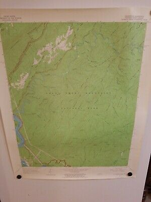 1964 CALDERWOOD, TENN-NC Topographical Map Geological Survey US Interior 27""