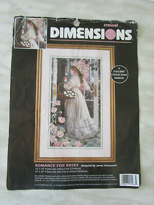 Dimensions Crewel Embroidery Kit Of Romance For Roses.