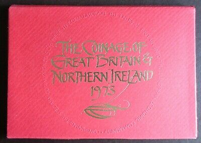 1973 Royal Mint Proof Coin Year Set - Toned
