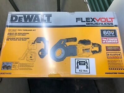 Genuine 60V MAX PIPE THREADER KIT DCE700X2  Flex volt Brushless ** BRAND NEW **