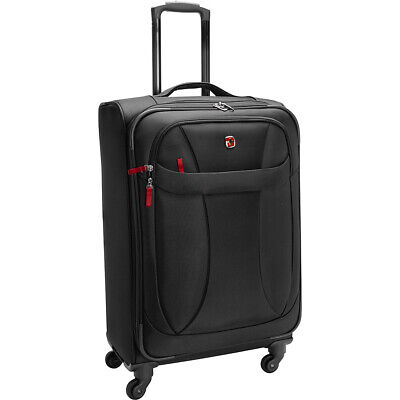 "SwissGear Travel Gear 7208 Lightweight 24"" Spinner Softside Checked NEW"
