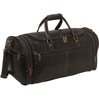 Le Donne Leather Distressed Leather Overnighter Duffel Travel Duffel NEW