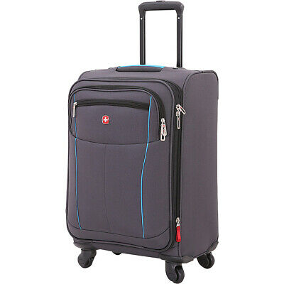 "SwissGear Travel Gear 6560 20"" Spinner Carry-On Luggage Softside Carry-On NEW"