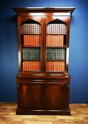 Stunning Magnificent Mahogany Library Bookcase Circa 1840 Antique Country House