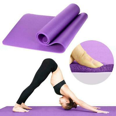 15mm Thick Non Slip Exercise Yoga Mats Gym Fitness Pilates Physio Foam Camping