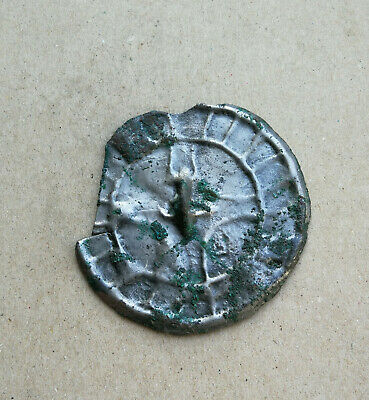 Authentic Viking Decorated With Ornament Bronze Mirror Very Rare