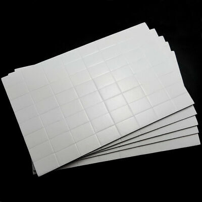 320 In 5 Sheets White Sticky Adhesive Double Sided Pads Pre Cut Foam 12mm x 19mm