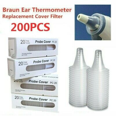 200xFor Braun Probe Cover Thermoscan Replacement Lens Ear Thermometer Filter LOT