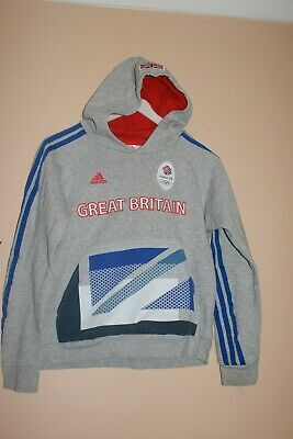 Adidas Grey Sweatshirt Hoodie Great Britain Aged 9 / 10 Years old