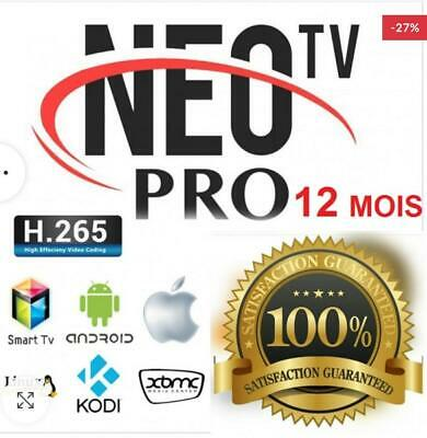 NEO TV PRO 2 *12 mois* (smart tv-android-IOS-M3U-FuLL hd)