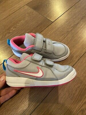 GIRLS NIKE /TRAINERS UK size 11, Grey/ Pink 2 STRAP